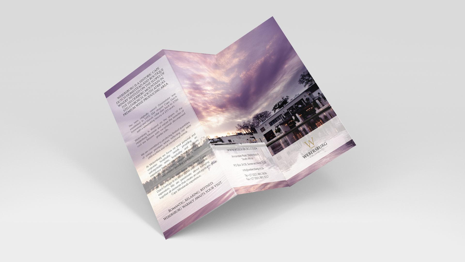 Webersburg Promotional Brochure Front
